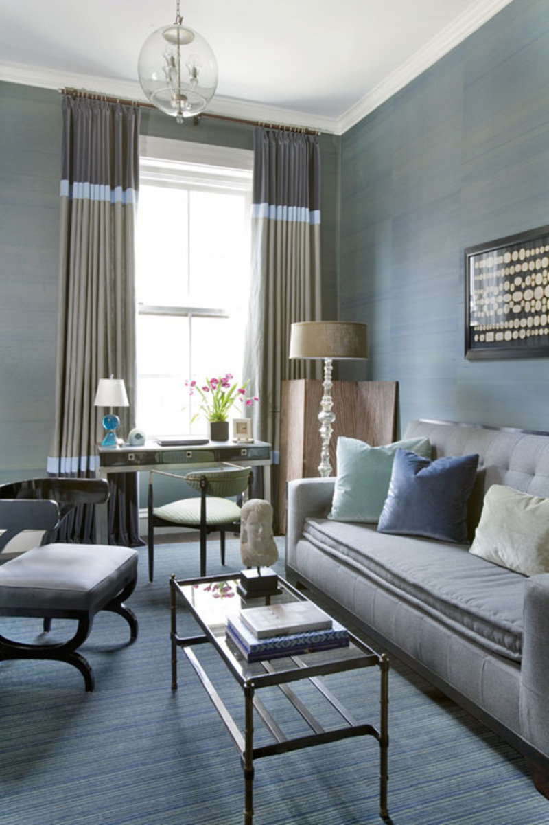 Blue And Brown Living Room, blue living room interior / Sample Designs ...
