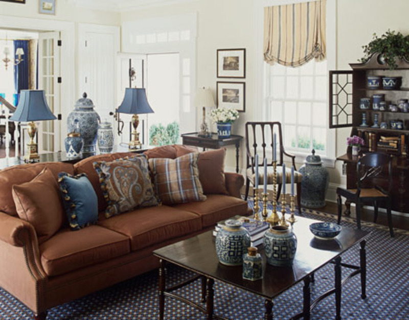 blue and brown living room periwinkle blue and brown decorating
