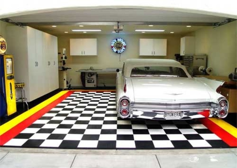 Charmant Interior Garage Designs, Ideas For Installing Garage Floor Tile