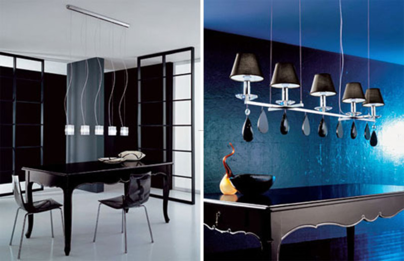 Romantic suspension lighting for dining room home trends - Lamparas para techos muy altos ...