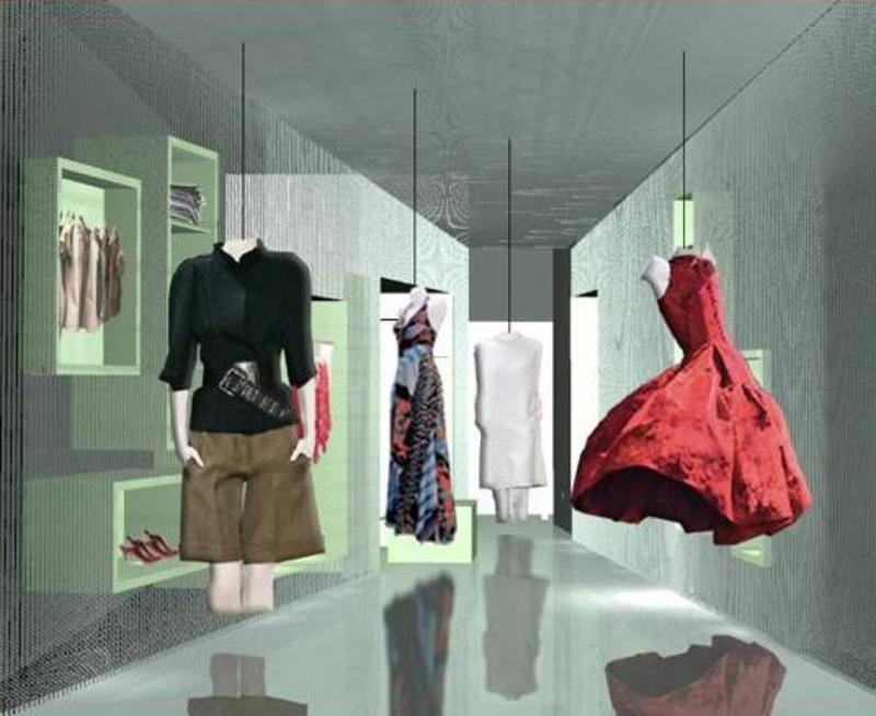Clothing Boutique Design, Three Dimension Space Boutique Design