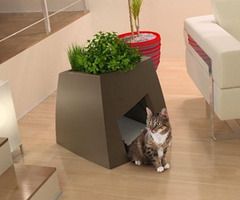 Pet Planters: Indoor Green-Roofed Homes for House Pets | Designs &amp; Ideas on Dornob