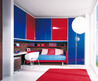 red blue bridge wardrobe funiture themes