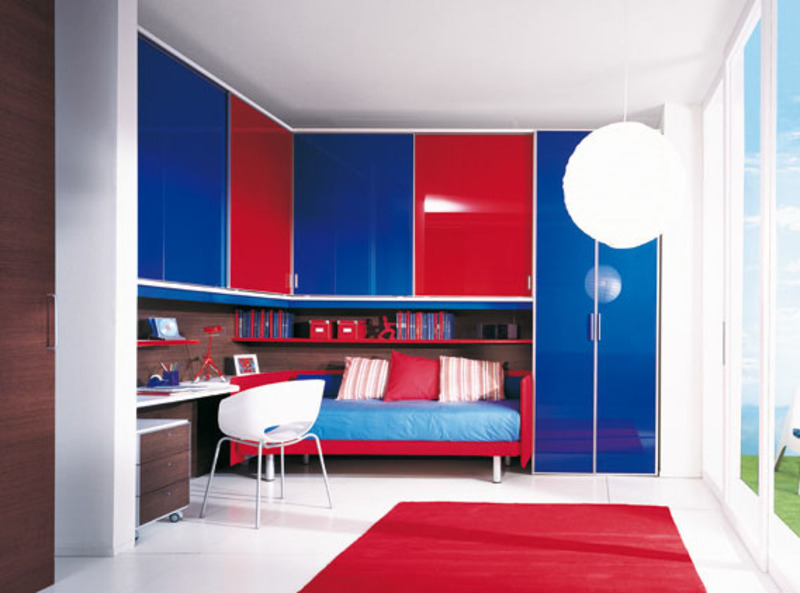 Red Blue Bridge Wardrobe Funiture Themes Design Bookmark