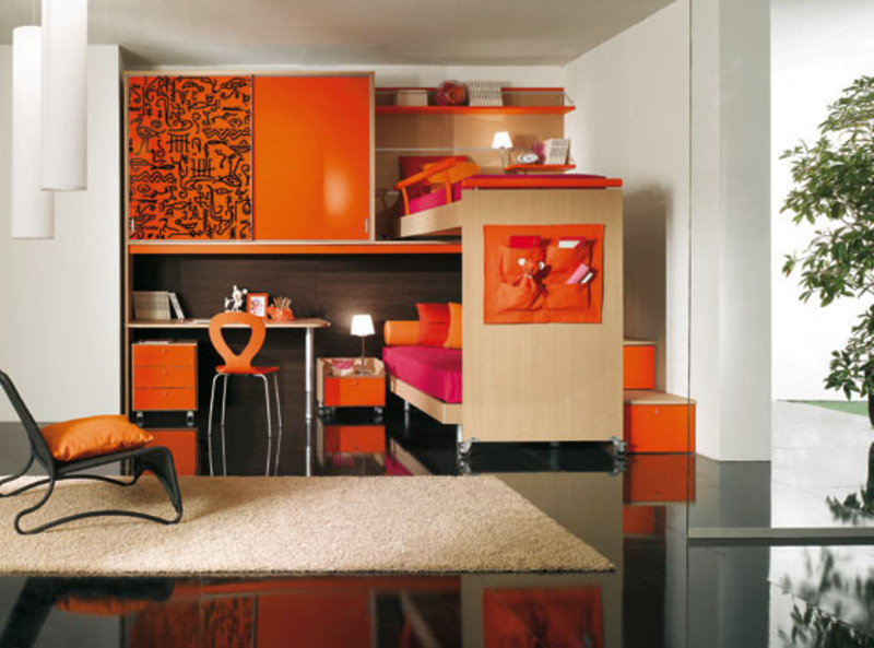 Wardrobe Designs For Kids, orange bridge wardrobe funiture themes
