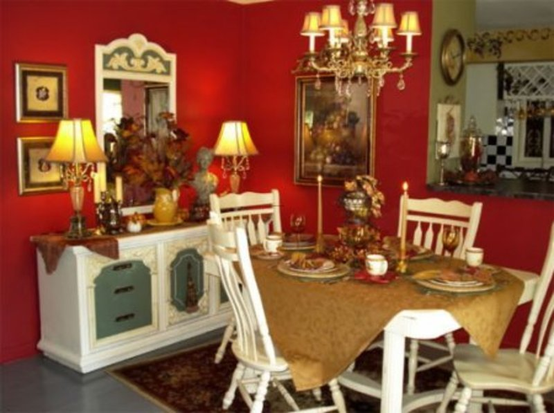 Luxury French Country Style Dining Room Decorating Ideas