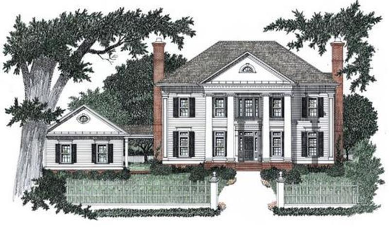 Colonial House Plans Design Bookmark 5591