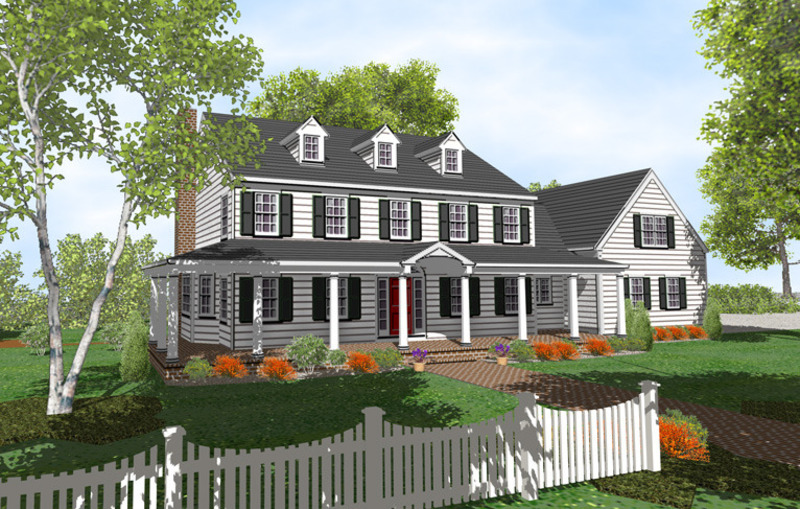 Colonial house plans design bookmark 5597 for Colonial home designs