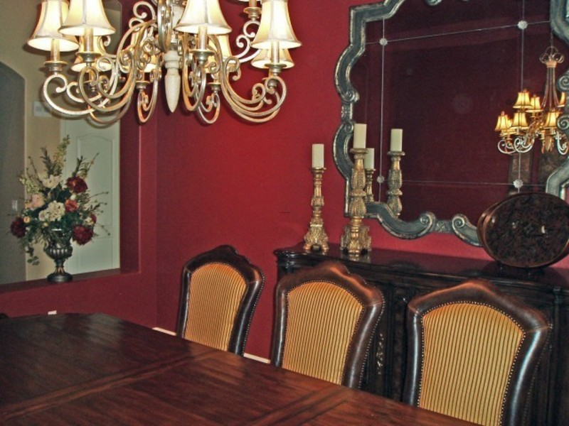 Dining room in red design bookmark 5607 for Traditional red dining room