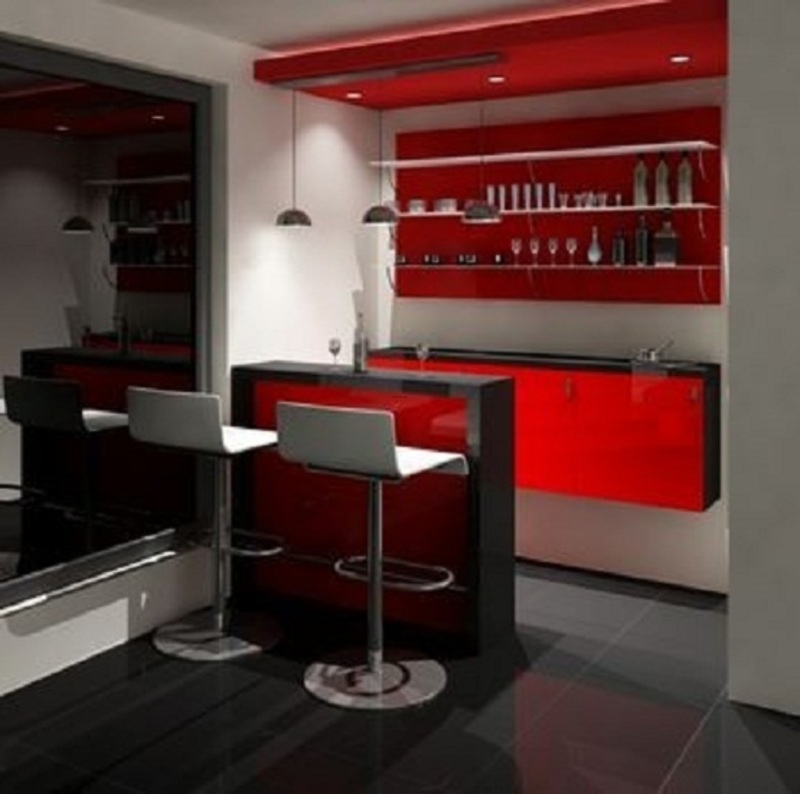Contemporary Home Bar Design Ideas: Modern Home Kitchen Bar Designs For Remodeling Of Kitchen