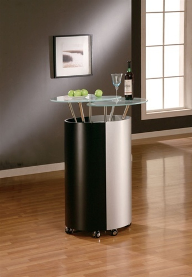 Elegant silver black modern home bar 777 by global for Furniture 777