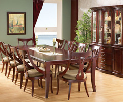Dining room with Traditional Tables and Chairs