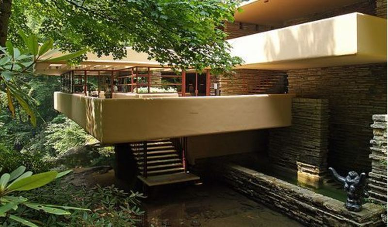 Falling Water House Interior, AD Classics: Fallingwater House Designed By Frank Lloyd Wright