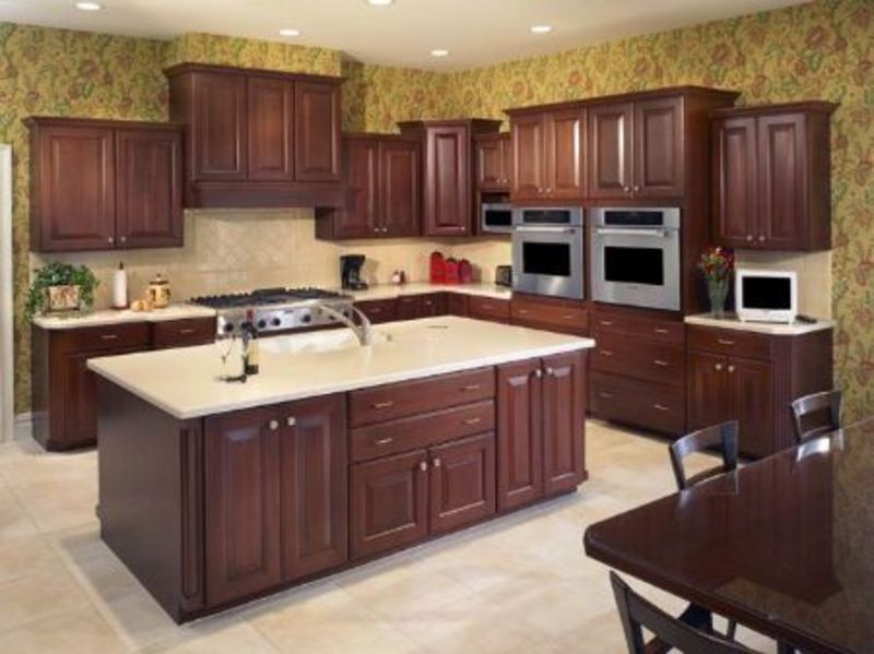 American Style Kitchen Cabinet Solid Wood Kitchen Cabinet Kitchen