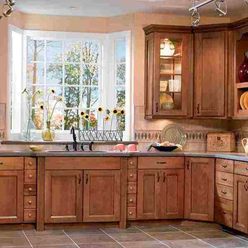 The american woodmark kitchen cabinets collection with a for Different styles of kitchen cabinets