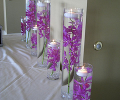 Purple Theme Wedding Decoration