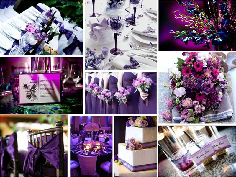 Purple Wedding Decorations, Wedding Accessories Ideas: Purple wedding decorations ideas pictures