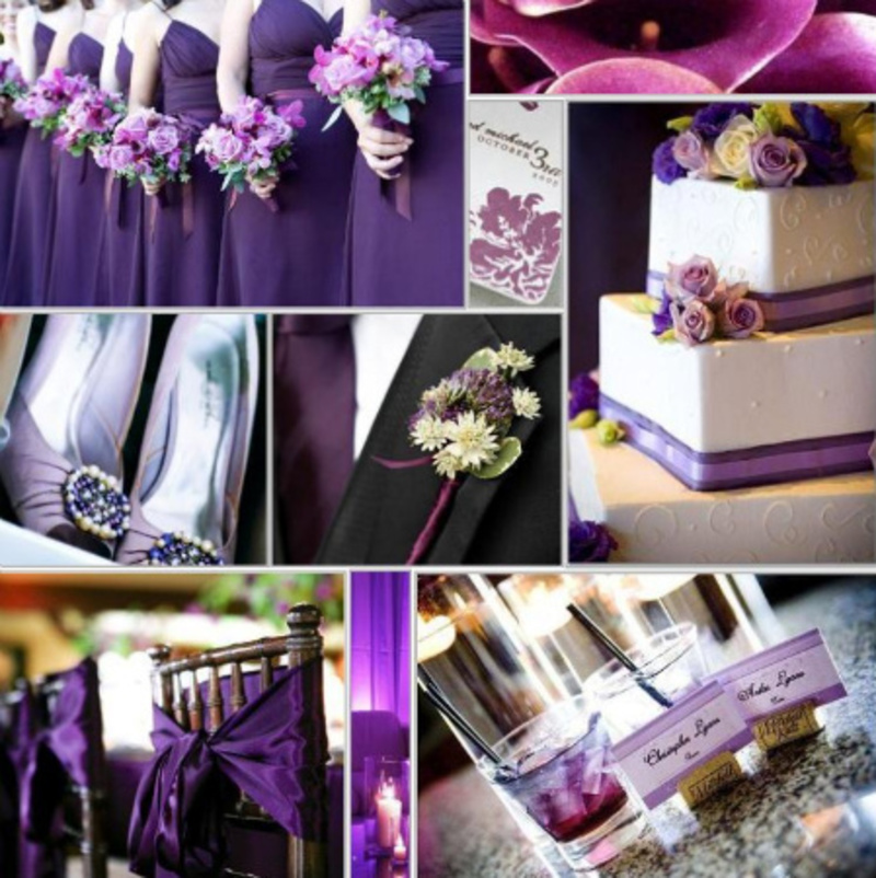 Purple Wedding Decorations, Wedding Decorations For A Purple Wedding