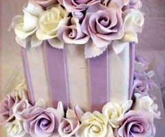 Purple wedding flowers decorations pictures