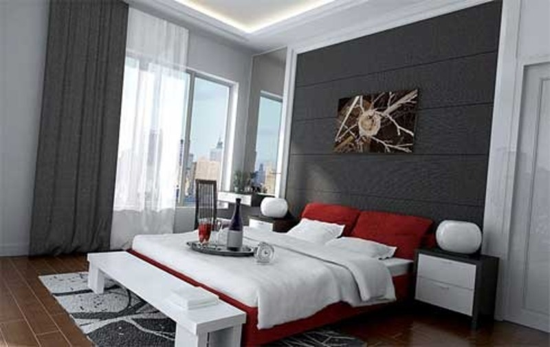 Remarkable Red and Gray Small Bedroom Decorating Ideas 800 x 504 · 78 kB · jpeg