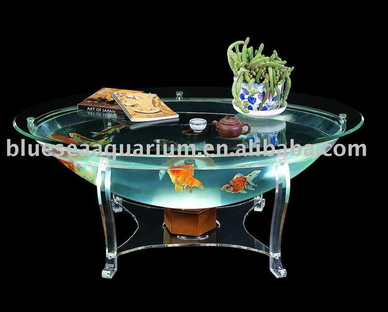 Dining table fish tank dining table for Coffee table fish tank for sale