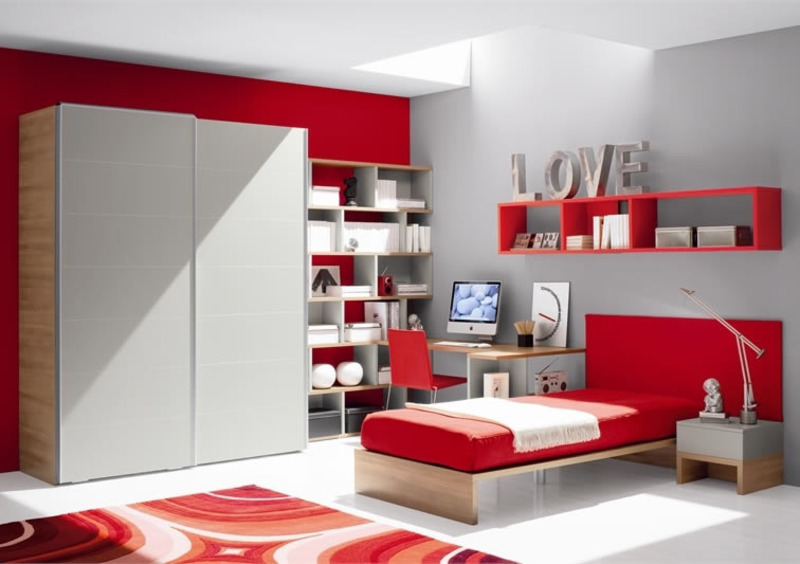 Teen Room Design Ideas, Modern small teen room design