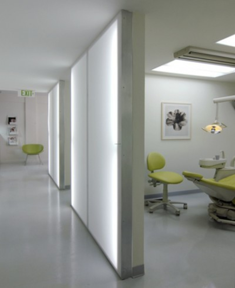 Modern office design barker dental by anima llc design for Dental office interior design