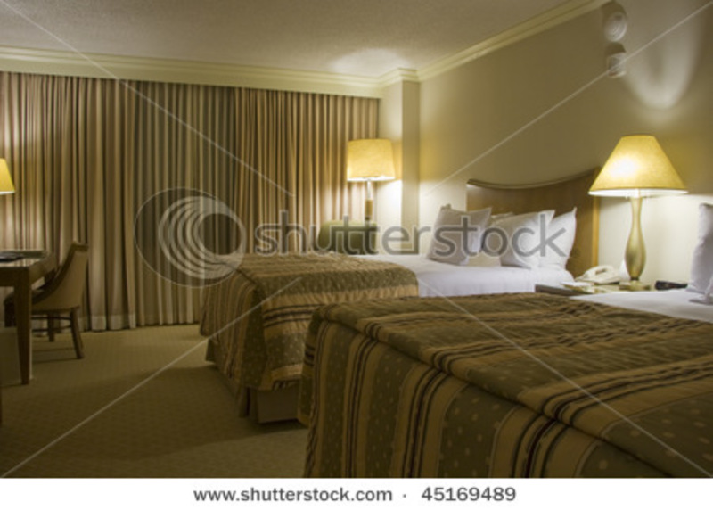 Table Lamps For Bedroom, Two Beds Bedroom With Bedside Table And Three Lamps Stock Photo 45169489 : Shutterstock
