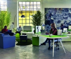 Waiting room design green office design ideas « Green contemporary workspace design winner Red Dot Award – Interior Original