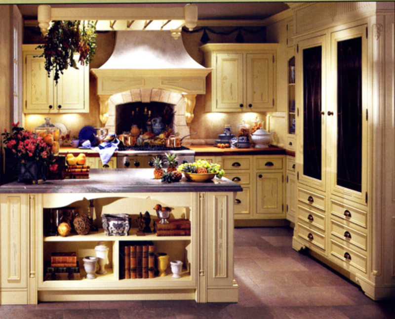 Elegant french country kitchen design ideas design - Country style kitchen cabinets design ...