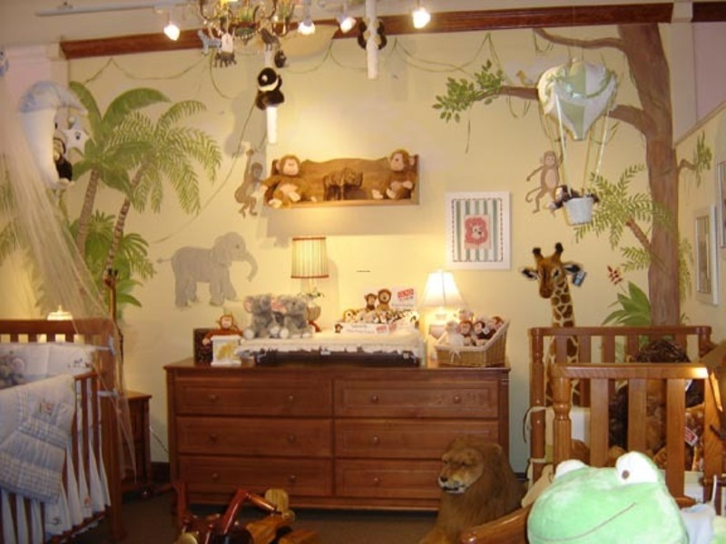 Baby Room Design Ideas, jungle theme for baby room design idea from decorationideas