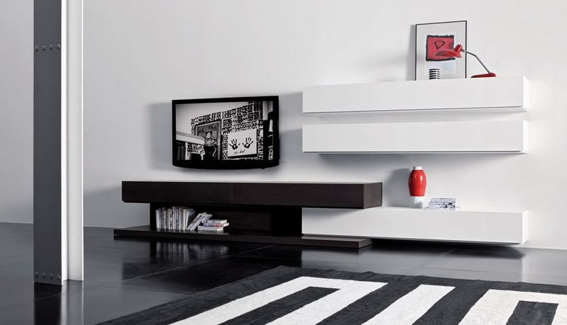 Wall Mount Tv Cabinets, Modern Living Room Wall Mounted Cabinet and TV ...