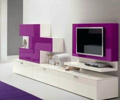 High gloss Muro modern media cabinet will give a vibrant kick to your decor