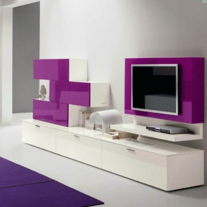 Design Wall Mounted Tv Cabinet : High gloss muro modern media cabinet will give a vibrant