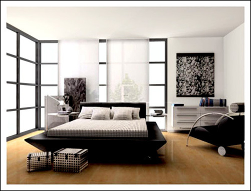 Jose, bedroom designs in black and white from walnut