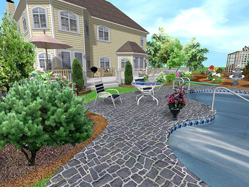Backyard landscape design ideas design bookmark 6272 for Home backyard landscaping ideas