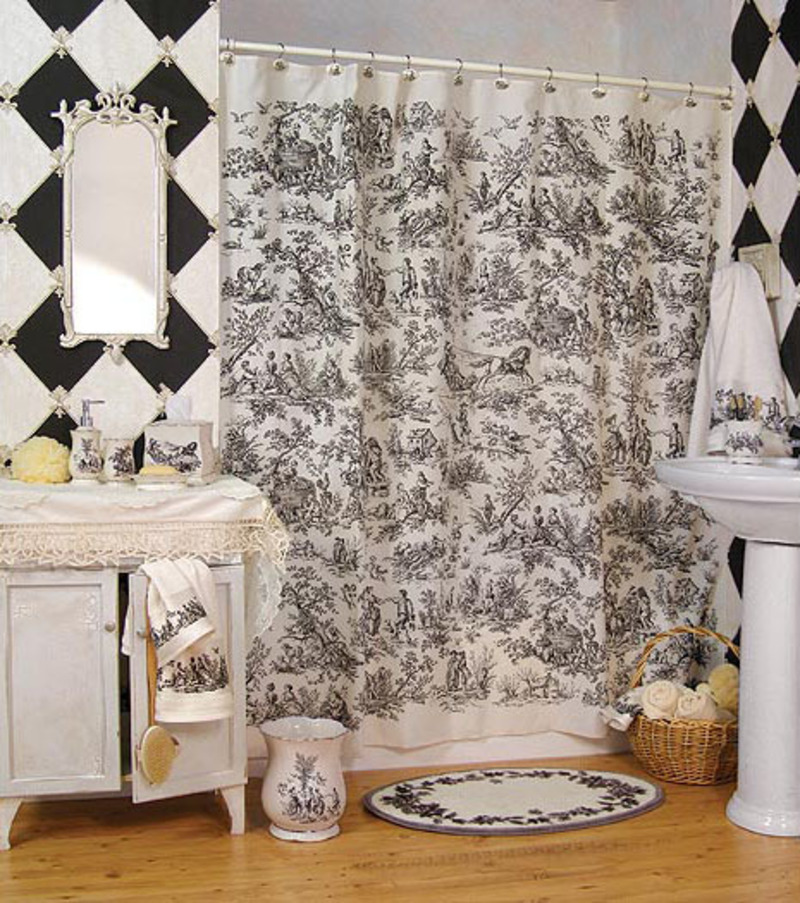 Country french bathroom decor homedesignpictures for French bathroom decor