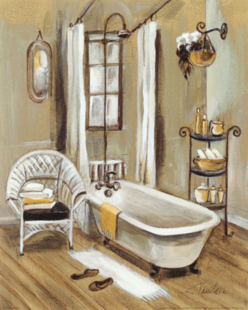 French bath xi print by silvia vassileva at art com for A bathroom in french