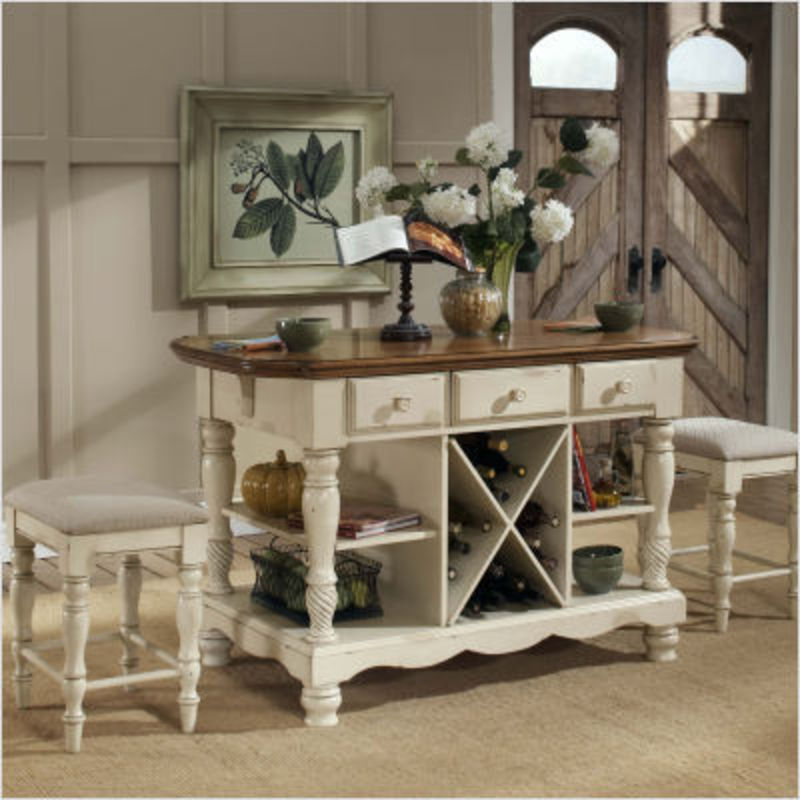 Hillsdale Wilshire Kitchen Island With 2 Stools design