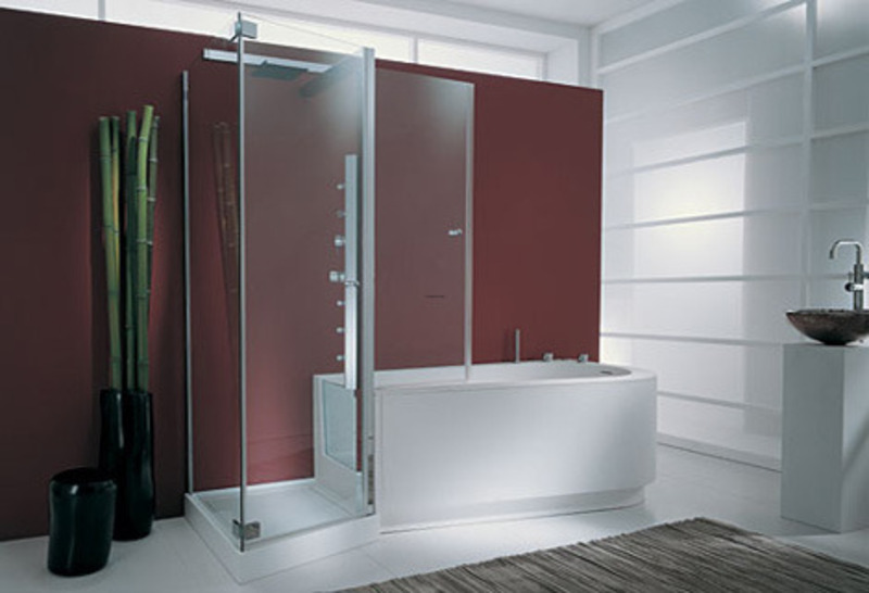 Modern Bath Shower Combo pictures of modern contemporary whirlpool bathtub shower combo