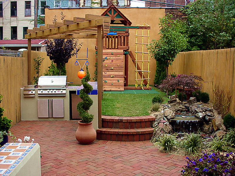 Small backyard remodel design design bookmark 6494 for Decorate small patio area