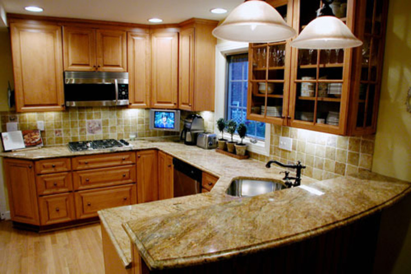 Kitchen ideas for small kitchens design bookmark 6517 Kitchen design ideas remodels photos