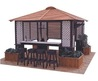Large Hot Tub Enclosure with Tap Room and Bar Stools by MyBath.biz::