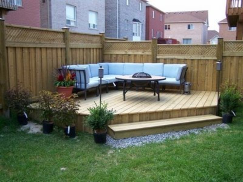 Small backyard ideas photos design bookmark 6555 for Small backyard layout ideas