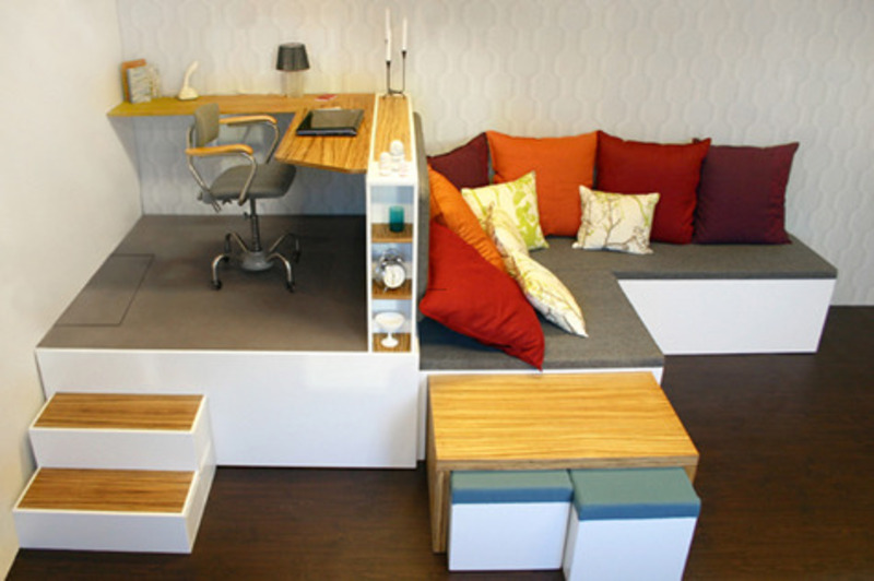 Creative small home office furniture ideas design for Creative office furniture ideas
