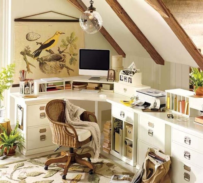 Small Home Office Furniture Decorating Design Ideas From Pottery Barn