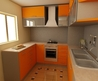 small orange kitchen furniture