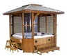 Hot Tub Enclosure with Roof Kit by MyBath.biz::