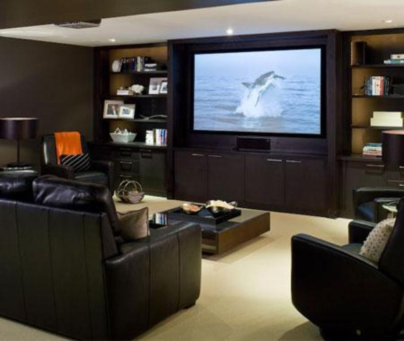 Home furniture decoration media rooms decorating ideas for House plans with media room