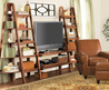 Media Room with Sawhorse Credenza